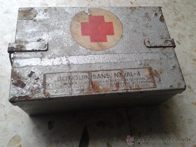 Antigua caja botiquin militar naval sans 4 homo comprar equipamiento militar antiguo de - Botiquin antiguo ...