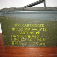 Militaria: CAJA MILITAR DE MUNICIÓN USA,METALICA 27,5 X 17,5 X 9,5 CM.VACIA.. Lote 231201820
