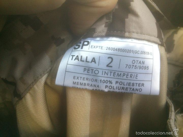 Militaria: TRAJE INTEMPERIE PIXELADO CHAQUETA MAS PANTALON-PETO.EJERCITO ESPAÑOL - Foto 6 - 57142144