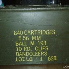 Militaria: USMC. US MARINES. CAJA DE MUNICIONES.. Lote 58394039