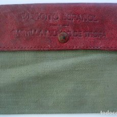 Militaria: CARTERA DE TELA PARA CARTILLA MILITAR. TROPA DEL EJÉRCITO ESPAÑOL. 1943. Lote 69115849
