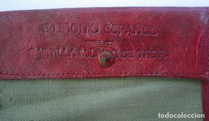 Militaria: Cartera de tela para cartilla militar. Tropa del Ejército Español. 1943 - Foto 2 - 69115849