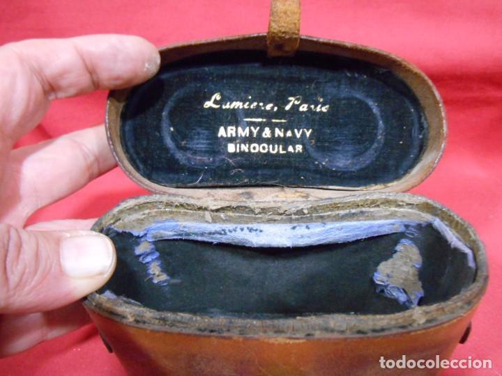 Militaria: ANTIGUA FUNDA DE PRISMATICOS MILITARES DE CUERO - Foto 2 - 69686753