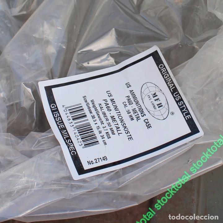 Militaria: Caja municiones VACIA SIN CONTENIDO SIN MUNICONES SIN BALAS EE.UU Cal.50 mm PA 60, metal 27149 - Foto 5 - 195386297
