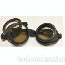 Militaria: ESTUPENDAS GAFAS DE VENTISCA EN COLOR NEGRO CON SUJECION DE GOMA, CRISTALES OSCUROS. Lote 133953062
