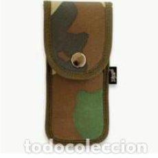 Militaria: ESTUPENDA FUNDA ACOLCHADA DE COLOR CAMUFLAJE DE NYLON DE 18 X 7 CMTS. Lote 80763306