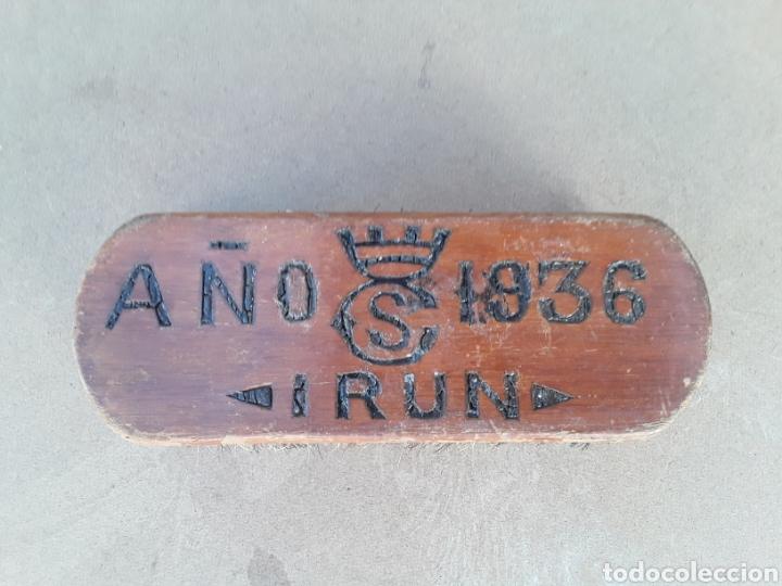 CEPILLO ANTIGUO DE (IRUN) 1936. (Militar - Equipamiento de Campaña)