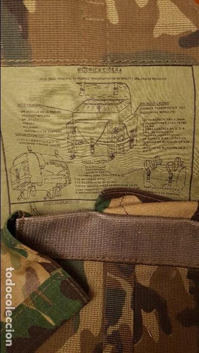 MOCHILA LIGERA DEL EJERCITO ESPAÑOL (Militar - Equipamiento de Campaña)