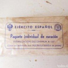 Militaria: PAQUETE INDIVIDUAL DE CURACIÓN EJERCITO ESPAÑOL. Lote 98909655
