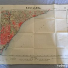 Militaria: MAPA BARCELONA EJÉRCITO 1952. Lote 99763803