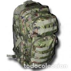 Militaria: ESTUPENDO MOCHILA DE ASALTO DE 36 LITROS EN COLOR VERDE PIXELADO Y BOSCOSO CON COMPARTIMIENTOS. Lote 101765715