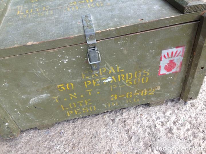 Militaria: CAJA EXPAL. CAJA DE MADERA VACIA. Año 82 - Foto 5 - 129981572