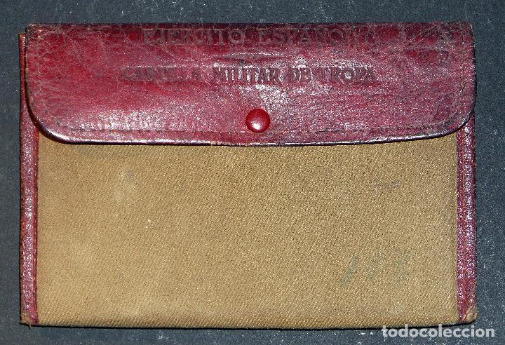 CARTILLA MILITAR DEL AÑO 1918 , PORTA DOCUMENTOS DE TELA Y CUERO Y DOCUMENTACIÓN (VER COMENTARIOS) (Militar - Equipamiento de Campaña)