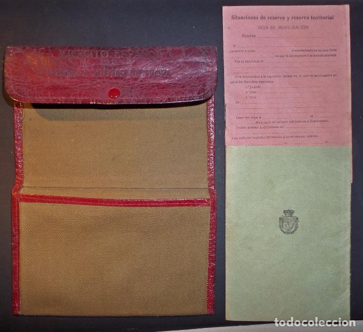 Militaria: Cartilla Militar del año 1918 , porta documentos de tela y cuero y documentación (ver comentarios) - Foto 2 - 105730319