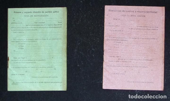 Militaria: Cartilla Militar del año 1918 , porta documentos de tela y cuero y documentación (ver comentarios) - Foto 3 - 105730319