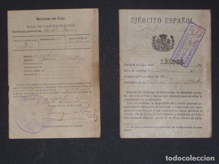 Militaria: Cartilla Militar del año 1918 , porta documentos de tela y cuero y documentación (ver comentarios) - Foto 4 - 105730319