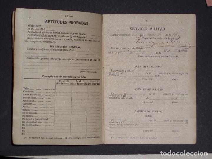 Militaria: Cartilla Militar del año 1918 , porta documentos de tela y cuero y documentación (ver comentarios) - Foto 5 - 105730319