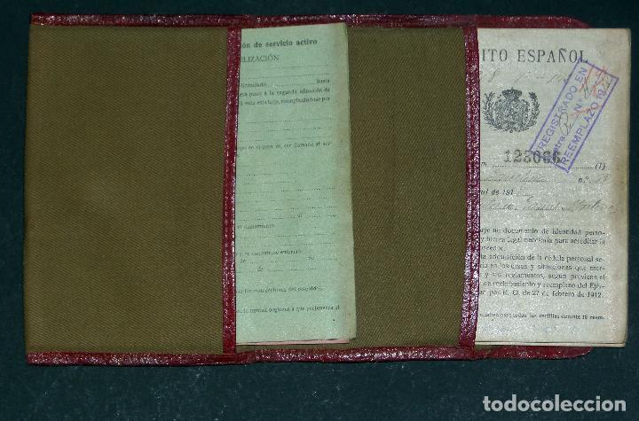 Militaria: Cartilla Militar del año 1918 , porta documentos de tela y cuero y documentación (ver comentarios) - Foto 6 - 105730319