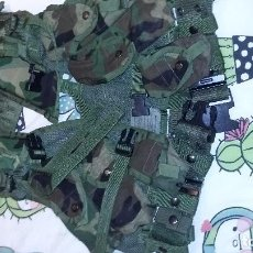 Militaria: CHALECO TACTICO CON CINTURON ,VEST ENHANCED TACTICAL LOAD BEARING. Lote 105776815