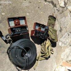 Militaria: TELÉFONOS MILITARES ,MOCHILAS ,TENDIDO. Lote 110615395