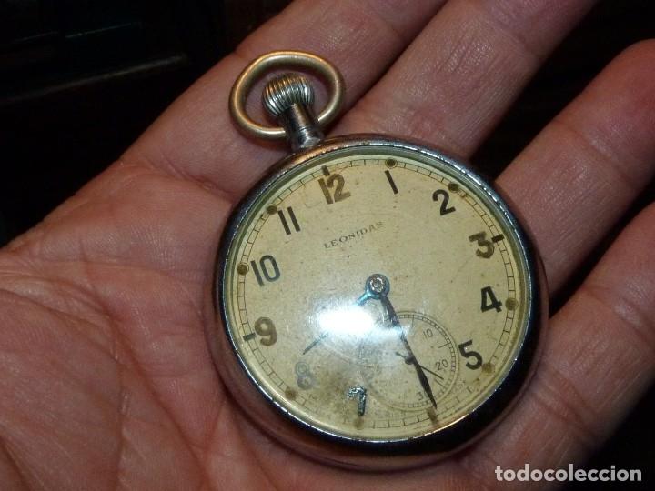 Militaria: Bello reloj LEONIDAS pre HEUER militar CALIBRE UNITAS 233 swiss made 2ª guerra mundial marcaje GSTP - Foto 4 - 114202987