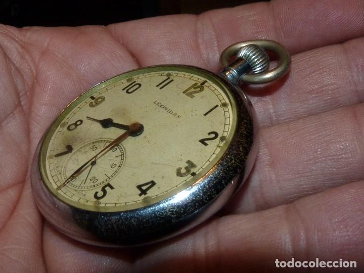 Militaria: Bello reloj LEONIDAS pre HEUER militar CALIBRE UNITAS 233 swiss made 2ª guerra mundial marcaje GSTP - Foto 3 - 114202987
