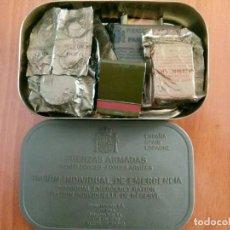 Militaria: RACION INDIVIDUAL DE EMERGENCIA. Lote 116437543