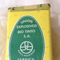 Militaria: LATA POLVORA. UNION EXPLOSIVOS RIO TINTO.. Lote 121494979