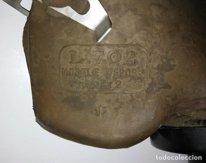 Militaria: Máscara de gas belga. L702. Segunda guerra mundial. Incluye funda metalica de transporte - Foto 8 - 123574243