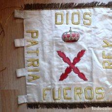 Militaria: (JX-180731)BANDERA,GUION DEL TERCIO DEL REQUETE DEL SANTO CRISTO DE LEPANTO,3ªCOMPAÑIA,CARLISTA.. Lote 127926695