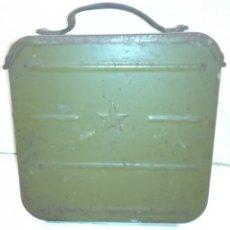 Militaria: ANTIGUA CAJA MUNICIÓN AMETRALLADORA RUSA. Lote 129007635