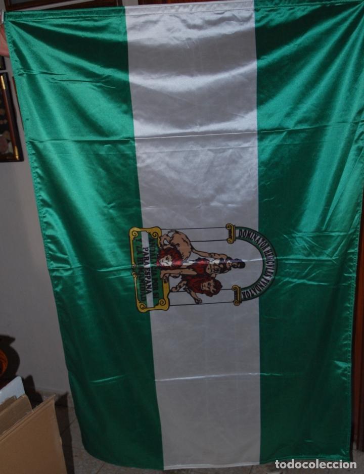 ESPLENDIDA BANDERA DE ANDALUCIA. CON ENGANCHES PARA IZADO (Militar - Equipamiento de Campaña)
