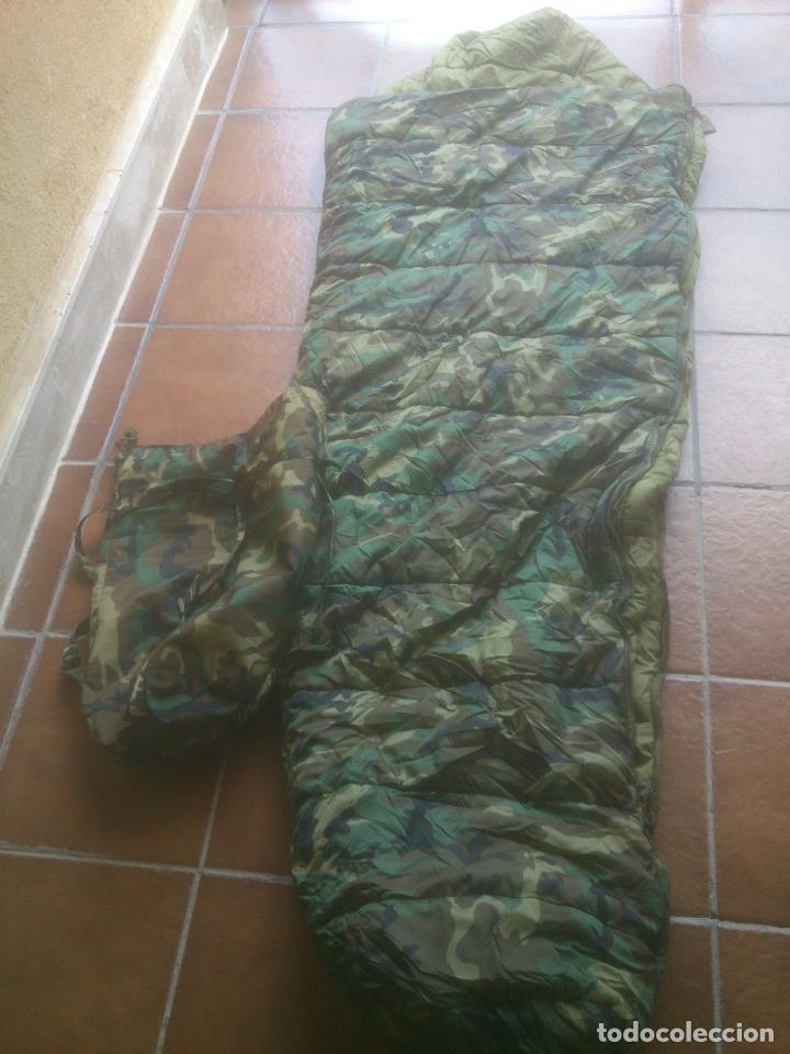 SACO DE DORMIR PARA MONTAÑA MIMETIZADO BOSCOSO MILITAR (Militar - Equipamiento de Campaña)