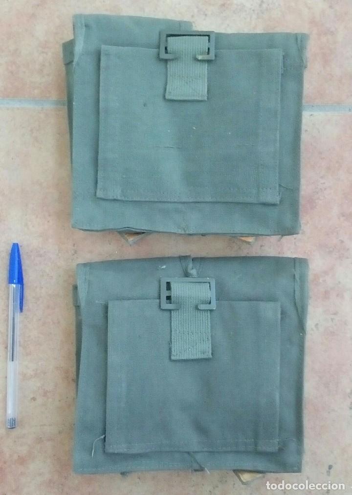 Militaria: 2 Cartucheras dobles de lona caqui para CETME, correaje M67. ¡A estrenar! - Foto 2 - 145256708