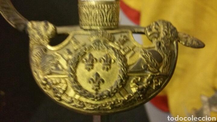 Militaria: Espadin periodo de restauración francesa cachas en nácar y empuñadura bañado en oro - Foto 2 - 134768865