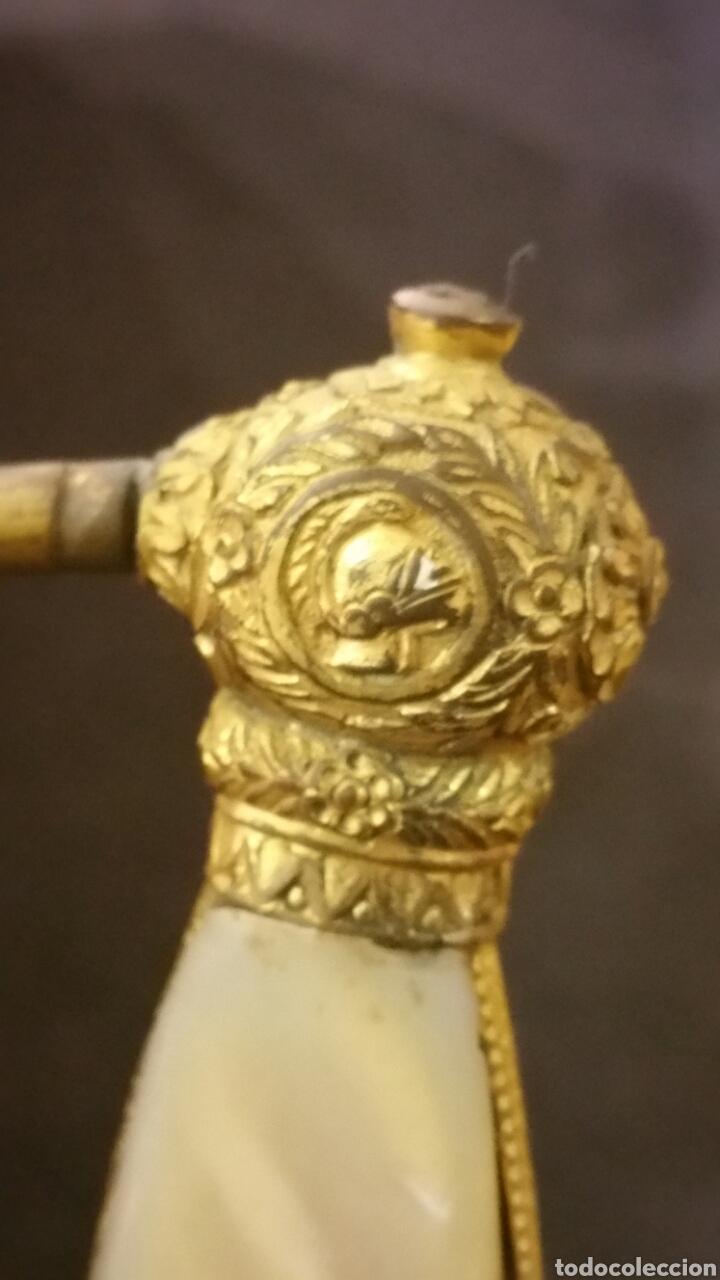 Militaria: Espadin periodo de restauración francesa cachas en nácar y empuñadura bañado en oro - Foto 5 - 134768865