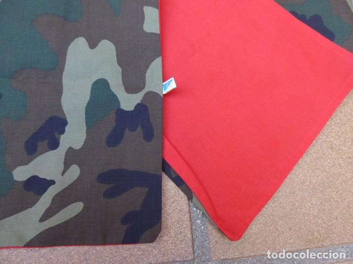 Militaria: Pañuelo camuflaje boscoso Woodland M-86 del ejército español. Rojo Infantería - Foto 2 - 195150427
