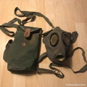Máscara de gas con bolsa combate URSS Ejercito ruso época comunista