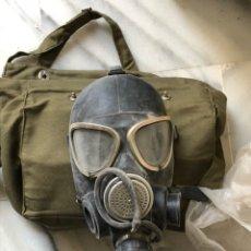 Militaria: MASCARA ANTIGAS EN SU FUNDA ORIGINAL, PRÁCTICAMENTE NUEVA. Lote 140223314