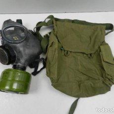 Militaria: ANTIGUA MASCARA DE GAS BOLSO DE LIENZO SIN USAR UNIÓN SOVIÉTICA. Lote 140480538