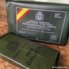 Militaria: RACIÓN INDIVIDUAL DE COMBATE DE DESAYUNO Y PAN GALLETA DEL EJERCITO , CADUCAN EL 5/2019. Lote 147522038