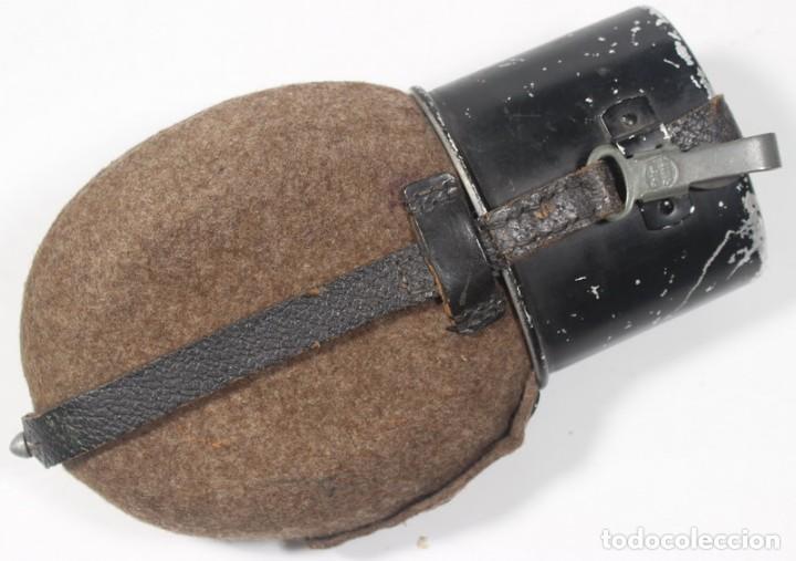 Militaria: Cantimplora Mod. 31, (Feldflasche 31 und Trinkbecker), original alemán Segunda Guerra Mundial - Foto 2 - 150294158