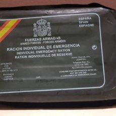 Militaria: RACION INDIVIDUAL DE EMERGENCIA, SIN ABRIR, TAL CUAL SE VE.. Lote 150675806
