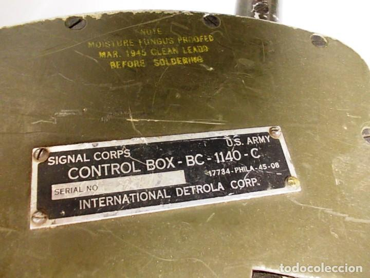 Militaria: Antiguo detector de minas del cuerpo de señales milatres del ejercito de los estados unidos - Foto 12 - 150815646