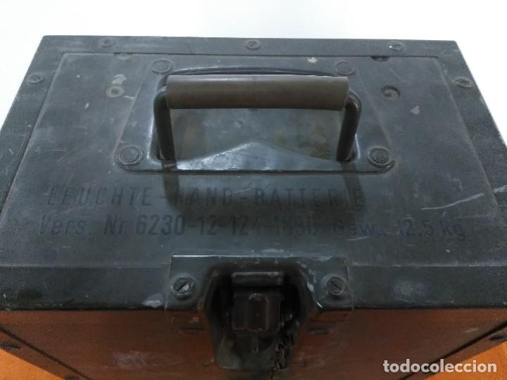 Militaria: LINTERNA ALEMANA ORIGINAL DE ALEMANIA CON TODOS SUS COMPLEMENTOS MILITAR - Foto 3 - 152025778