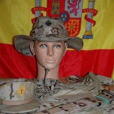 Militaria: LOTE MILITAR MIMETIZADO DE CAMPAÑA: CAMISA,CHAMBERGO,GORRA,CEÑIDOR Y KIT CUBIERTOS. Lote 155567026