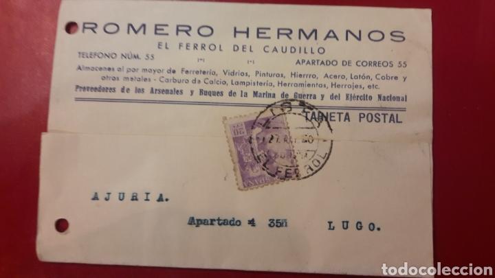 1940 EL FERROL DEL CAUDILLO ROMERO HERMANOS PROVEEDORES ARSENALES Y BUQUE DE LA MARINA DE GUERRA (Militar - Equipamiento de Campaña)