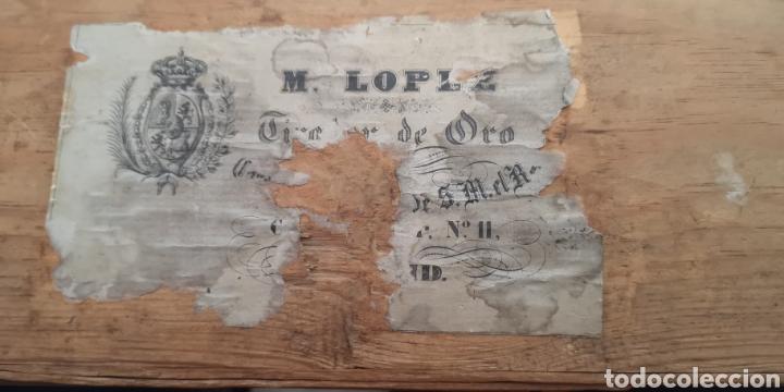 Militaria: Antigua caja del siglo 19 realizada en madera para fajín o cordones militares - Foto 2 - 160987576