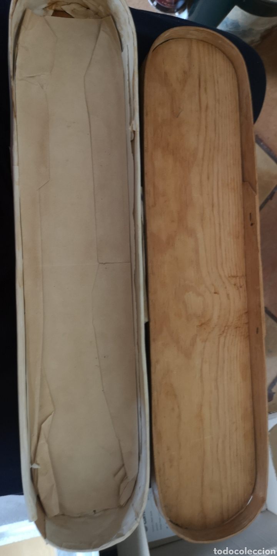 Militaria: Antigua caja del siglo 19 realizada en madera para fajín o cordones militares - Foto 3 - 160987576