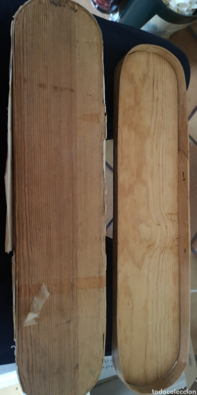 Militaria: Antigua caja del siglo 19 realizada en madera para fajín o cordones militares - Foto 4 - 160987576